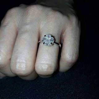 1.5 carat Illusion Diamond Ring