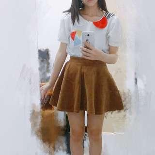 🚚 細絨咖啡色傘裙