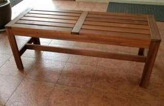 Like NEW Ikea ÄPPLARÖ Bench, stool, kerusi, outdoor, indoor, garden theme, brown stained brown,solid wood..