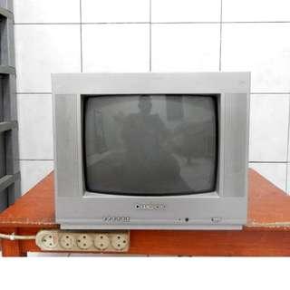 """Tv 14""""ChangHong Mesin Asli Bandel Bagus Jernih KATAPANG SOREANG"""