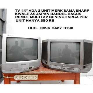 "Tv 14""ada 2 Unit Merk Sama SHARP Price/Unit Bandel Katapang SoReaNG"