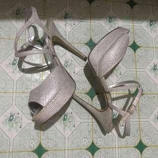 I.Miller Silver High Heel Shoe Sandal