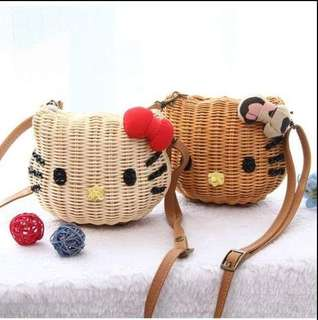 Rattan Hello Kitty Mino Bag