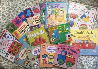 12本兒童硬封面圖書(0-3歲)