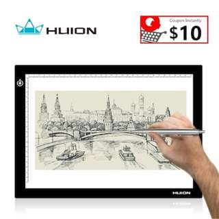 Huion 17.7 Inch L4S LED Tracing Board Drawing Light Box with Dimmable Brightness--A4 USB Porta