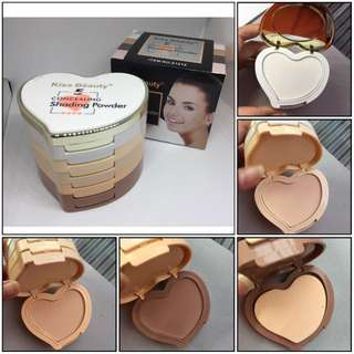 Concealing Heart - Kiss Beauty 5in1 Contour Shading Powder