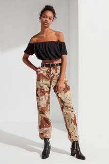 Urban Outfitters Vintage Stonewashed Camo Pants