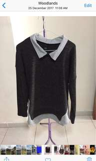 BNWT Ladies Black long Sleeve Knit Top - quote your own. Price