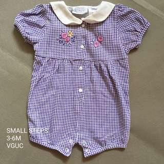 3-6M Baby Steps Romper