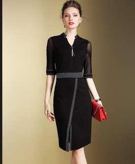 Elegant Black Business Dress