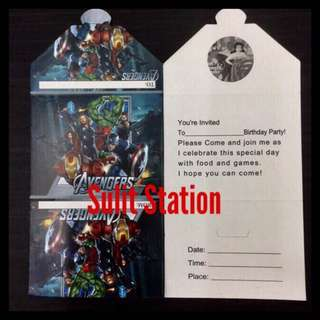 AVENGERS PARTY INVITATION CARD