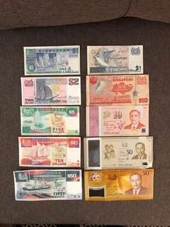 SGD Old / Rare / Collectable Notes