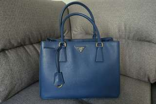 購自🇫🇷 🆕Prada Galleria 藍色 Saffiano 1BA874 NZV F0016
