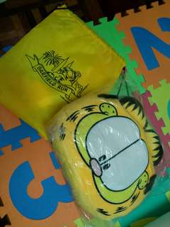 Garfield pillow and running bag.