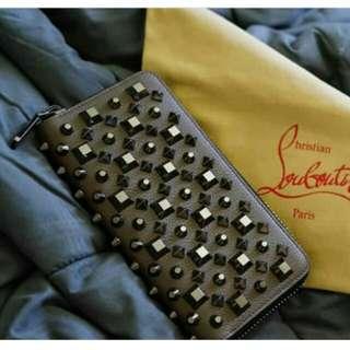 👉CAKEP - CHISTIAN LOUBOUTIN Zipper Wallet#pH