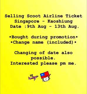 Scoot Airline Ticket