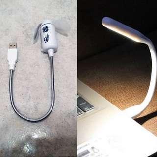 $4 each USB LED table light + USB fan for computer or laptop sale ! gdfg gew gerwgsd