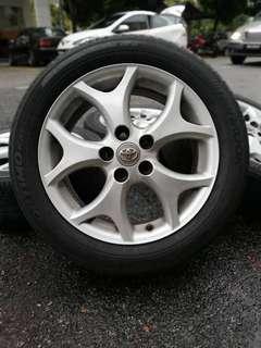 Original sports rim estima 17 inch tyre 80%. *jual mora mora looo*