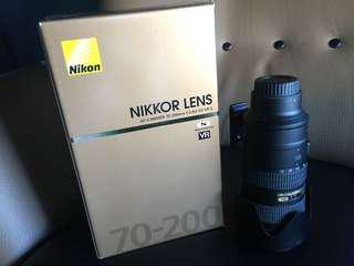 Nikon 70-200mm f2.8G ED VRII