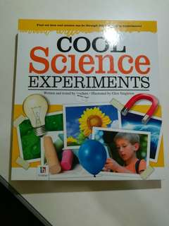 Science experiments book for primary school