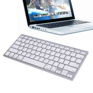 (43)Silver Wireless Bluetooth Keyboard For Android MAC Windows OS System