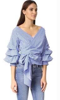 Zara checkered wrap top