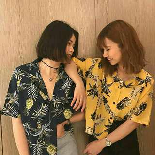 🍍 printed tropical blouse #UNDER90