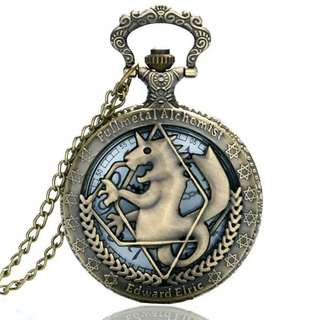 High Quality Full Metal Alchemist Edward Elric Pocket Watch Quartz Watches