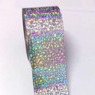 Laser Silver Cat Eye Nail Transfer Foil 100 x 4 cm