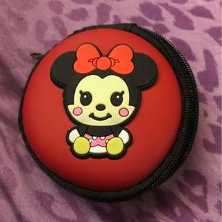 Brand New, Disney, Minnie Mouse Earpiece ,casing, Coin pouch, cute, gift