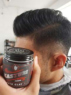 Haircut/barber with styling pomades