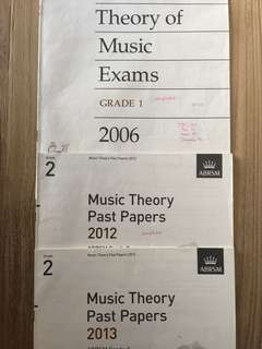 Abrsm music theory exam papers