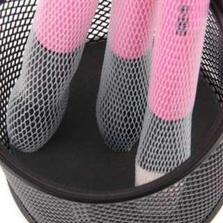 (60)10 Pcs Cosmetic Make Up Brush Pen Netting Cover Mesh Sheath Protectors Guards