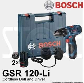 PROMO SALE - Bosch Cordless Drill Driver 12V GSR 120-LI