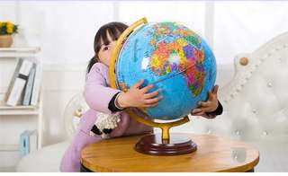 World Globe 32mm diameter Desktop for Educational Geography