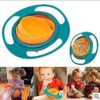 BNIB Baby Toddler Non-spill Gyro Bowl 360 Degree Rotational