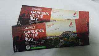 1 Pcs Tickets GARDEN BY THE BAY and OCBC Skyway TICKET  (1 child)