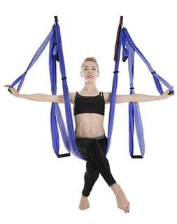 AUKIEE yoga swing/hammock/trapeze/sling for antigravity Yoga Inversion Exercises w/ 2 extension straps