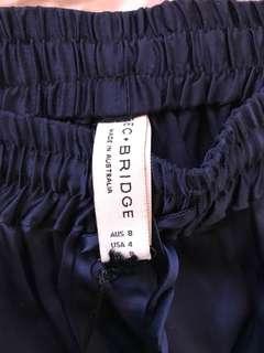 Bec and bridge bonsoir pants aus 8 silk navy