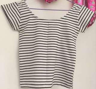 Stripe Tshirt Fit Body