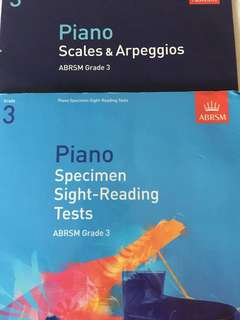 ABRSM Grade 3 Piano sight reading scales Books