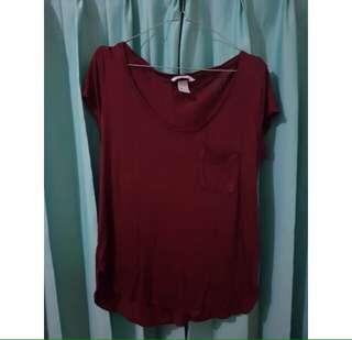 H&M Maroon Tshirt