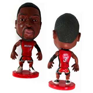 bd78bcaaf38 NBA WADE 3 MIAMI BASKETBALL PLAYER TOY FIGURE