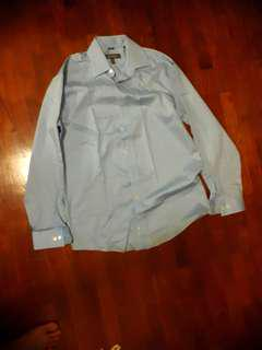 🚚 Kenneth Cole Reaction Mens Blue Collared Formal Shirt-Sz M