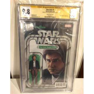 CGC SS 9.8 Star Wars Han Solo #1 Han Bespin Action Figure Variant Signed by John Tyler Christopher