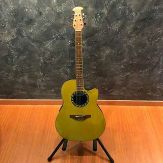 🚚 Ovation Applause AE028 Gold Metallic Finish Acoustic Guitar
