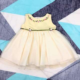 Betina Yellow Formal Dress for Baby Girl Size 11