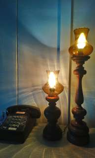Vintage Teak Table Lamp