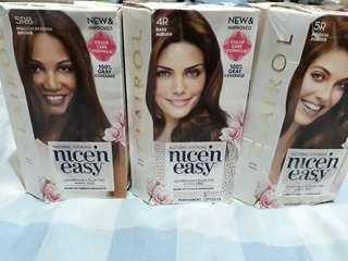 Clairol Nice'n Easy Hair Dye 499 each