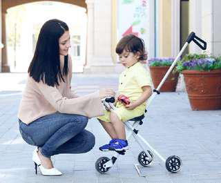[Ready Stock] Portable Stroller Foldable Tricycle Lightweight scooter